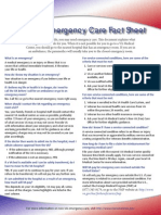 NonVA Emergency Care Fact Sheet