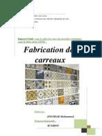 Rapport Fabrication Des Carreaux (ZOUIHAR Mohammed)