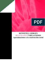 Gergen K J Realidades y Relaciones