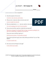 Do You Know & Exercises 3b