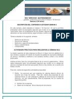 Desarrollo de Actividades de Servicios Gastronomicos Semana 2.