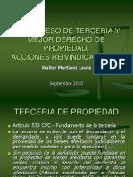 DIALOGO JURÍDICO - PROCESO DE TERCERIA Y MEJOR DERECHO DE PROPIEDAD