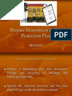 MFA10103 (2012) - SCM - Prepare Demolition