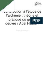 ABEL HAATAN_Contribution Al Etude de La Alchimie
