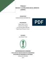 Políticas Laborales Derecho Informatico