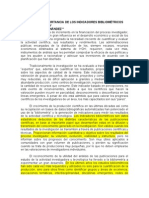 Importancia de Los Indicadores Bibliom.filippo, Fernandez