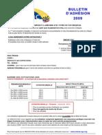 Cotisations 2009