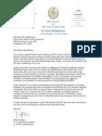 Councilwoman Ferraras letter to FTC