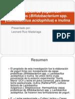 Elaboración de yogurt con probióticos (Bifidobacterium