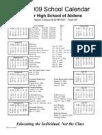 Abilene 08-09 Calendar