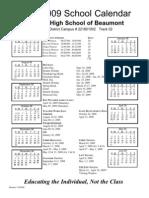 Beaumont 08-09 Calendar