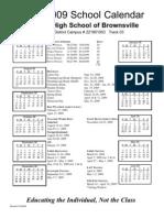 Brownsville 08-09 Calendar