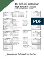 Lubbock 08-09 Calendar