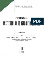 Anuarul Institutului de Istorie Nationala 2 (1923) 1924