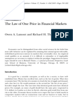 Journal of Economic Perspectives - Law of One Price in Financial Markets (2003)