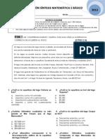 Evaluación Síntesis 5 básico 2013