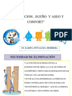 ELIMINACION , SUEÑO  , ASEO Y CONFORT
