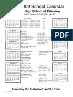 Palmview 08-09 Calendar