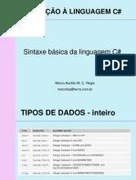slide 02 - Sintaxe básica da linguagem C#