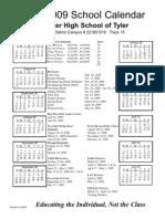 Tyler 08-09 Calendar
