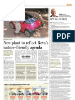 New plant to reflect Reva's naturefriendly agenda