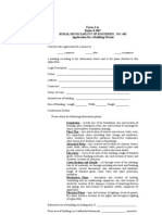 RM of Rosthern Building Permit Application 2009