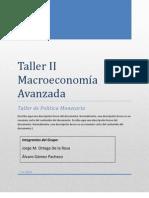 Taller II Macroeconomía Avanzada