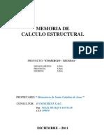 Memoria Calc.estruct PARURO2011 Completo