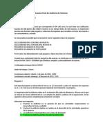 Examen Final Auditoria de Sistemas