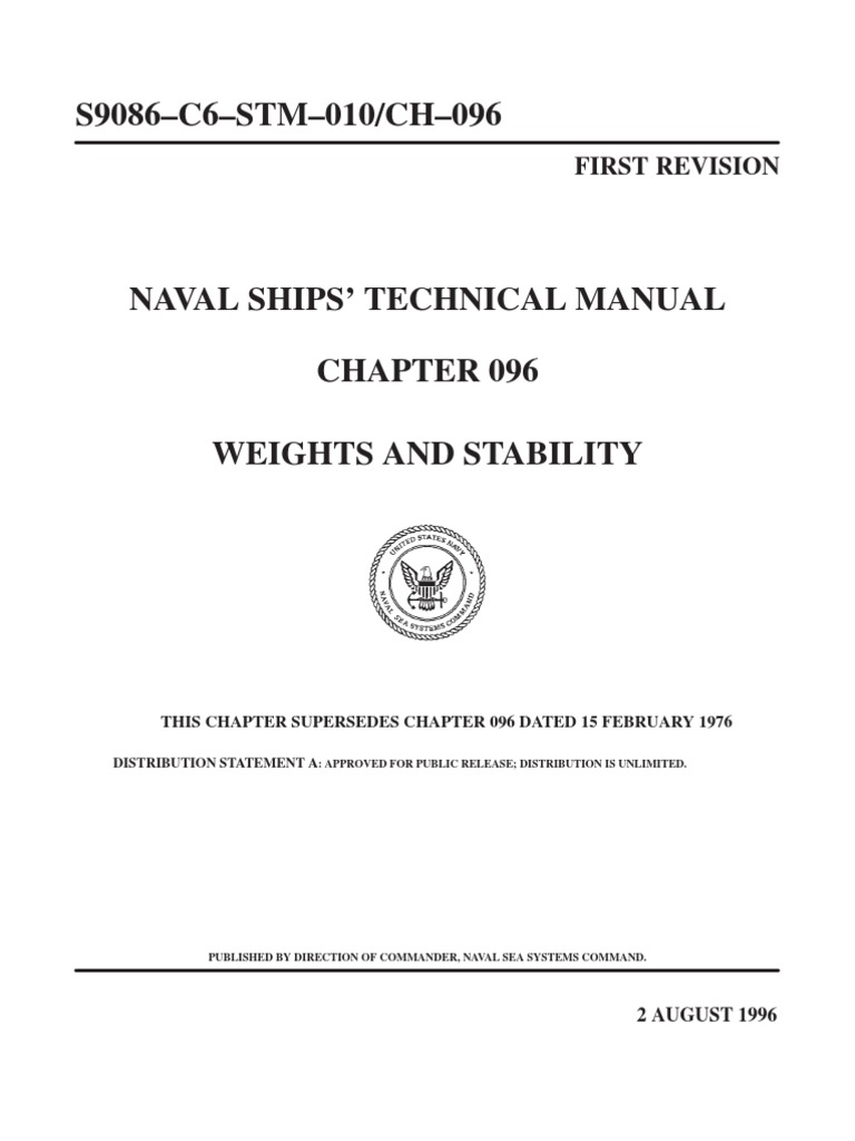 naval ship s technical manual weights and stability tonnage rh scribd com navy technical manual 01-1a-509 navy technical manual 347-2686