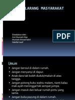 Pantang-Larang Masyarakat Melayu