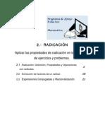 2-)+RADICACION