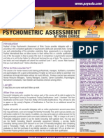 Psychometric Assessment at Work Course-R