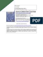 Applied Sports Psychology