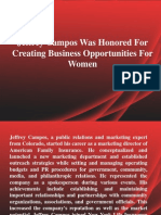 Jeffrey Campos Was Honored For Creating Business Opportunities For Women