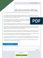 Ein Blick auf erheblicher Teil von Call Center CRM Teams