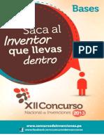Bases Concurso Invenciones 2013