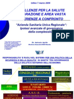 Presentazione del dr. Antonio Aprile - Direttore generale ASUR Marche