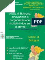 Presentazione di Gilberto Bragonzi - Direttore sanitario AUSL di Bologna