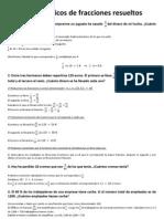 Problemas básicos de fracciones resueltos
