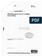 BS en 439-1994 Welding Consumables - Shielding Gases for Arc Welding & Cutting