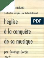 7247260 LEglise a La Conquete de Sa Musique Solange Corbin