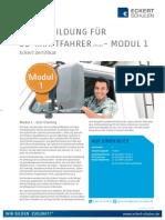 Datenblatt Weiterbildung EU-Kraftfahrer Modul 1