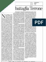 14-06-2013 La Stampa  Nome di battaglia Terrone.