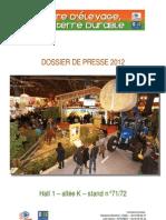 Dossier de presse Terre d'élevage, terre durable au Salon International de l'Agriculture 2012