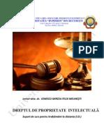 Dreptul de Proprietate Intelectuala - An 3, Sem 1