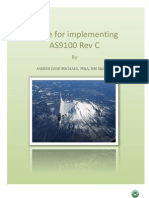 Guide to implement AS9100 Rev. C by Ashish Jude Michael