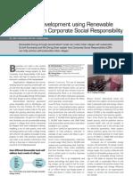 Sustainable Development Using Renewable