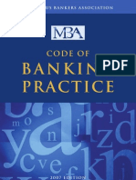 MBA Code of Banking Practice Booklet