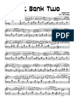 The Noveltones - Left Bank Two Arr. Nik Coley.  Sheet music pdf.